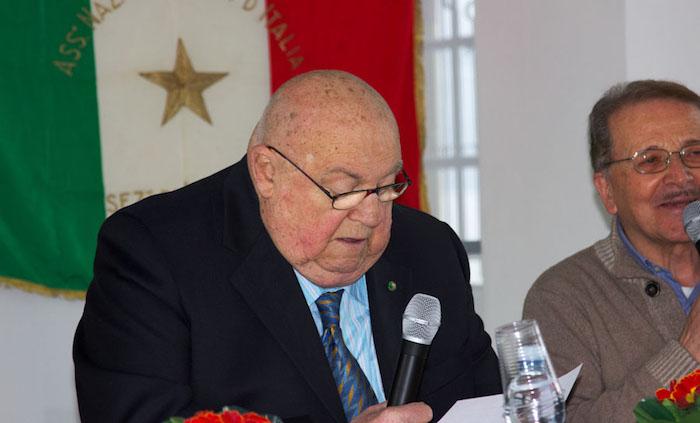 (Foto © OLIBA) - Il presidente ANPI Luino, Remo Passera