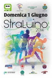 """La locandina della """"StraLuino"""" 2014, organizzata dalla ProLoco di Luino, dalla Logos e dall'Atletica 3V, con il patrocinio del Comune di Luino"""