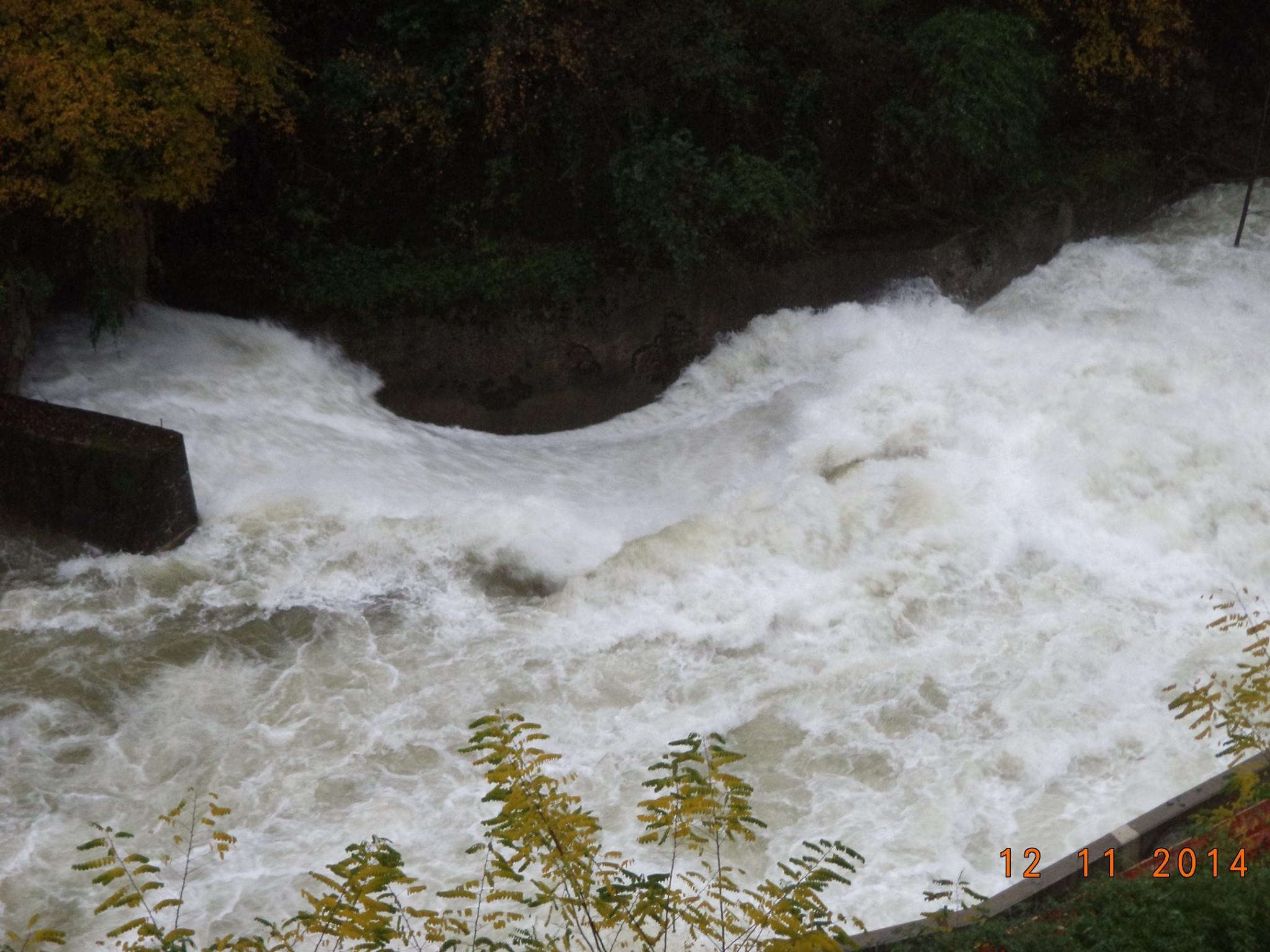 La situazione sulla diga di Creva (Foto © Pietro Agostinelli)