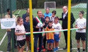"""L'inaugurazione del campo da calcio a 5 al """"Centro Sportivo Le Betulle"""" di Luino"""
