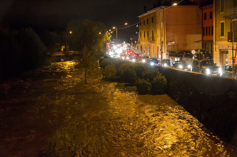 Il fiume Margorabbia nei pressi di Germignaga (Foto © Alessandro Bordin - facebook.com)