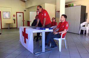 La conferenza stampa della Croce Rossa, questa mattina a Varese (Foto © Marina Perozzi - facebook.com)