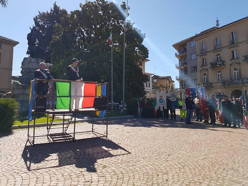 """Festa della Liberazione a Luino, Fazio: """"Il 25 aprile non è solo storia, è anche attualità"""""""