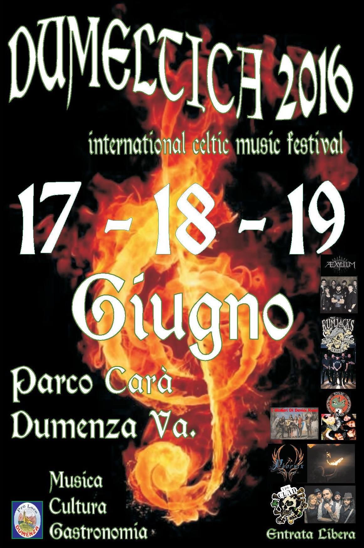 """Torna questa sera la """"Dumeltica"""", ecco il programma dell'International Celtic Music Festival"""
