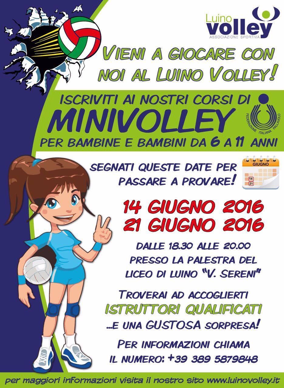 Open Day della Luino Volley oggi alle 18.30 per avvicinare i bambini alla pallavolo