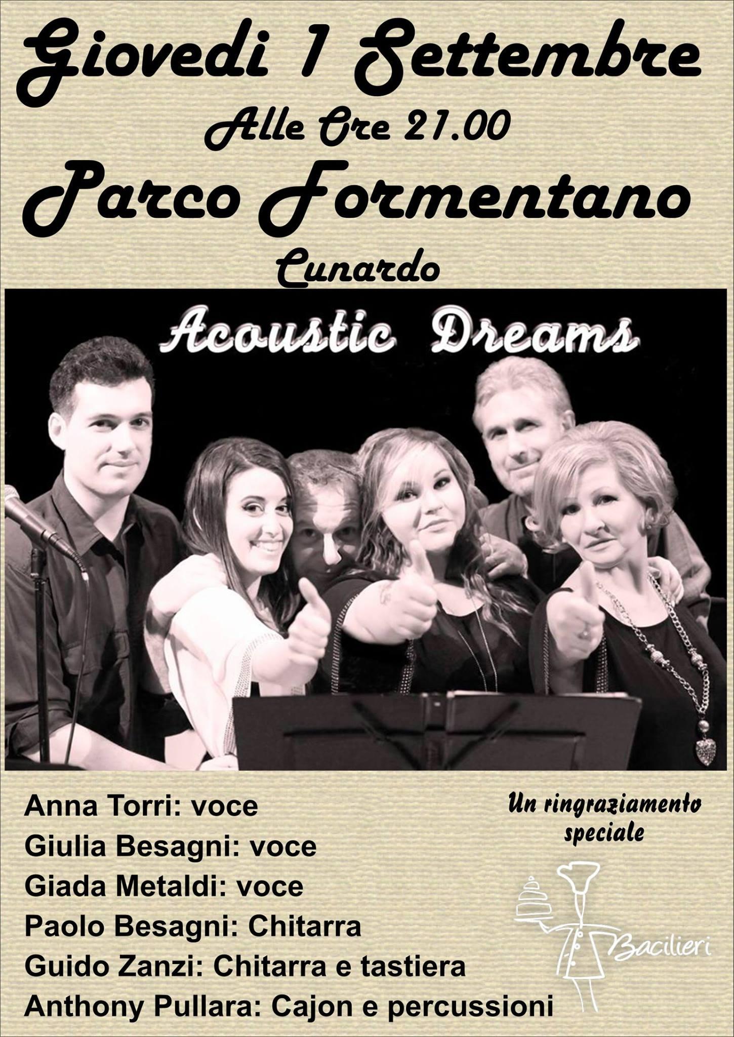 Cunardo, Acoustic Dreams in concerto per i terremotat
