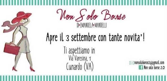 """Riapre sabato 3 settembre a Cunardo """"Non Solo Borse"""""""