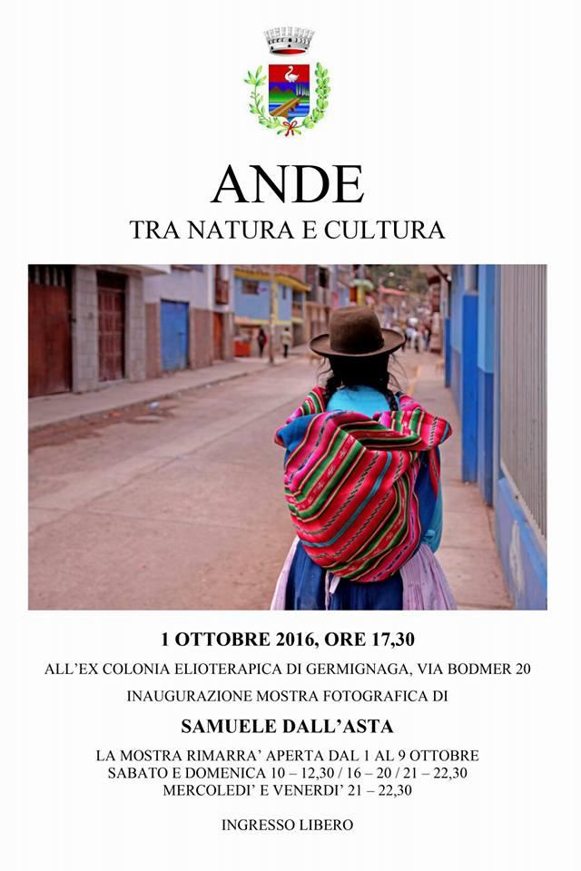 """Germignaga, un viaggio nelle """"Ande, tra natura e cultura"""". Sabato l'inaugurazione della mostra di Samuele Dall'Asta"""