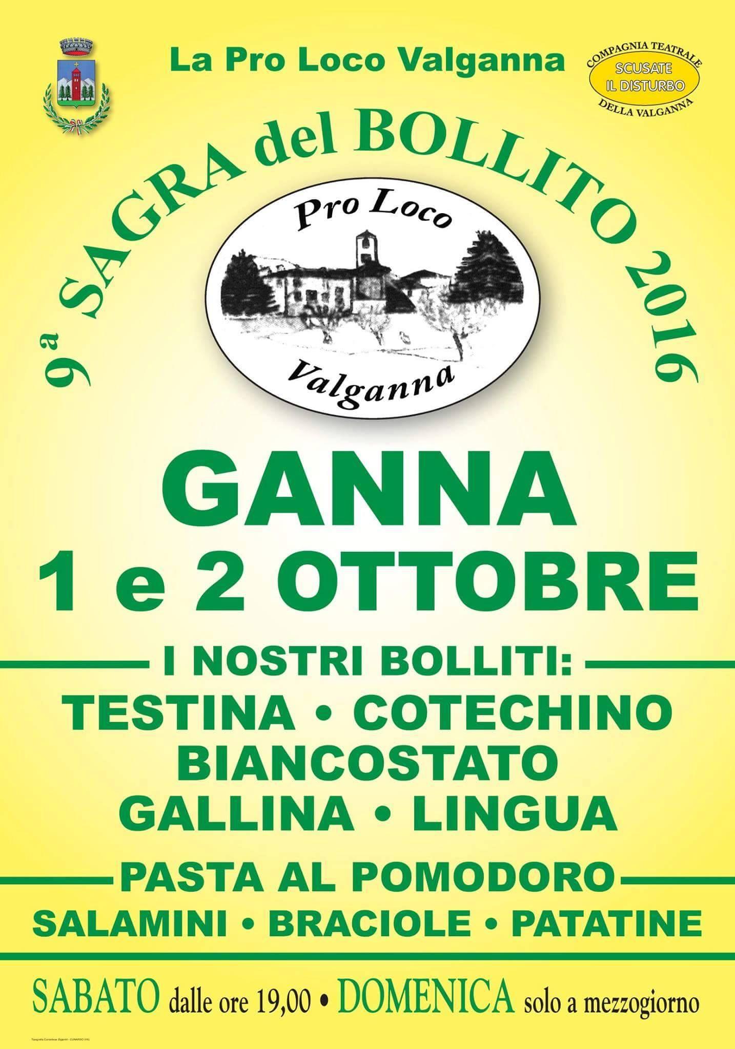 """Domani e domenica a Ganna la nona """"Sagra del Bollito"""", anche un'occasione per conoscere l'Aism"""