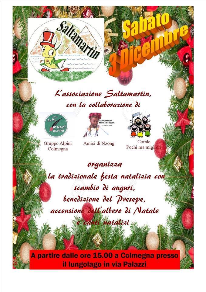 Sabato a Colmegna la tradizionale festa natalizia sul lungolago