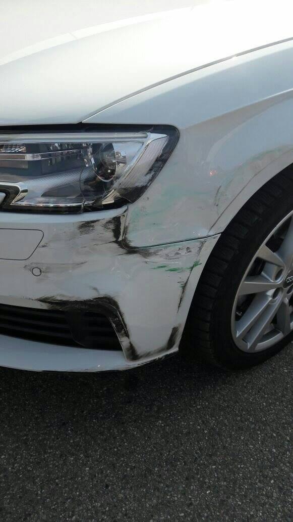 Luino, Federico cerca la persona che ha danneggiato la sua auto nel parcheggio del Carrefour