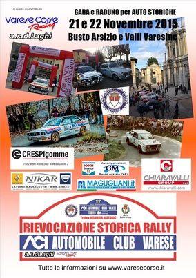 La 2° rievocazione storica del Rally ACI Varese torna i prossimi 21 e 22 novembre