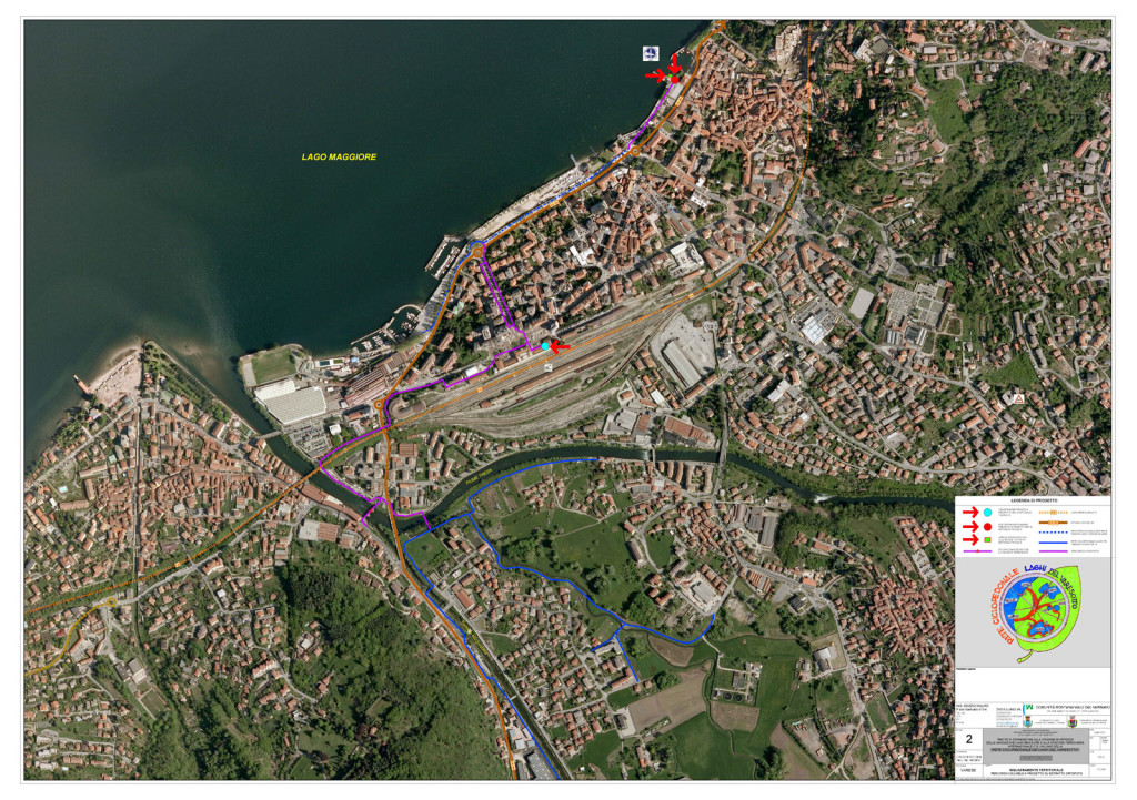 Luino - Pista Ciclabile progetto 1