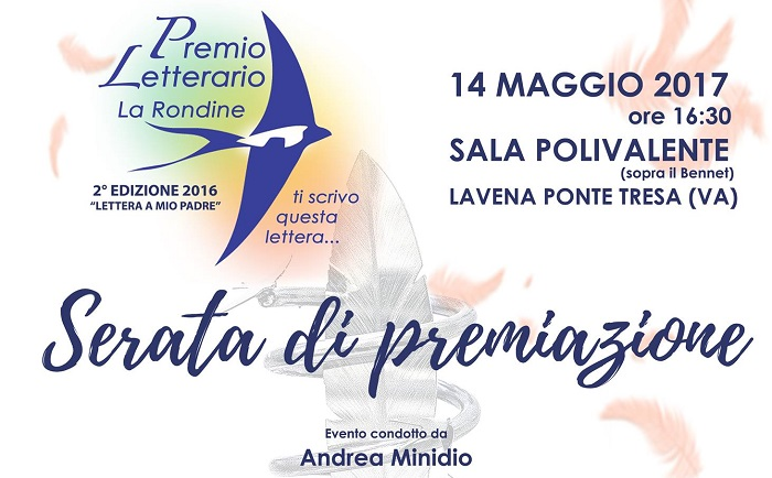 Lavena Ponte Tresa, domenica la cerimonia di premiazione del Premio Letterario La Rondine