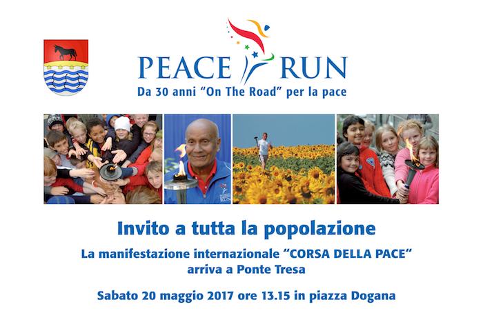 """La dogana di Ponte Tresa domani ospita """"Peace Run"""", da trent'anni""""On The Road"""" per la pace"""