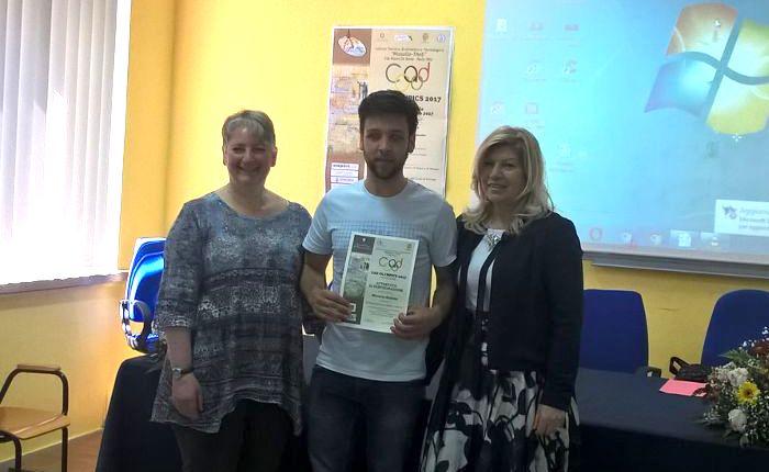 """Grande soddisfazione per Andrea Muraca, studente dell'I.S.I.S. """"Città di Luino"""", alle Olimpiadi CAD 2017"""