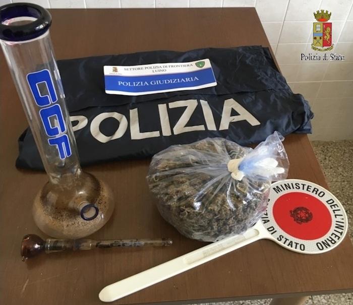 Detenzione e spaccio di marijuana, denunciato 26enne a Luino