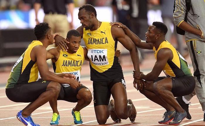Addio choc all'atletica per Usain Bolt, il video dell'infortunio durante la finale della 4x100