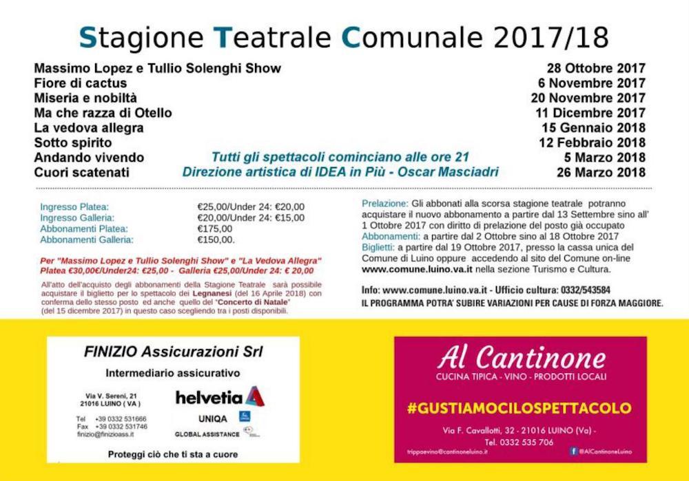 Presentata la stagione teatrale di Luino: tra Lopez-Solenghi e Massironi, anche operetta e musical