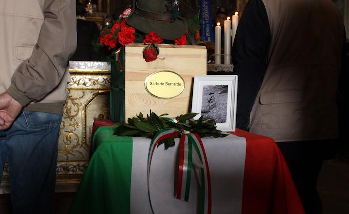 L'umile addio a Bernardo Sartorio, dopo settant'anni torna a