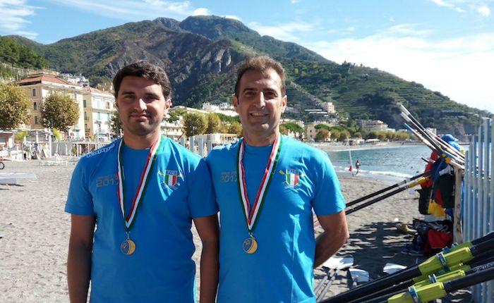 Canottieri Luino protagonista ai Tricolori Coastal di Maiori: oro nel doppio con Del Ferraro e Manzo