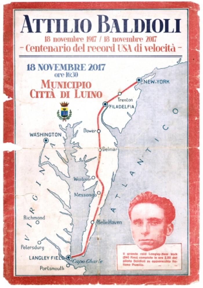 Da Agra agli States, la storia di Attilio Baldioli: Luino ricorderà l'uomo del record aereo di velocità