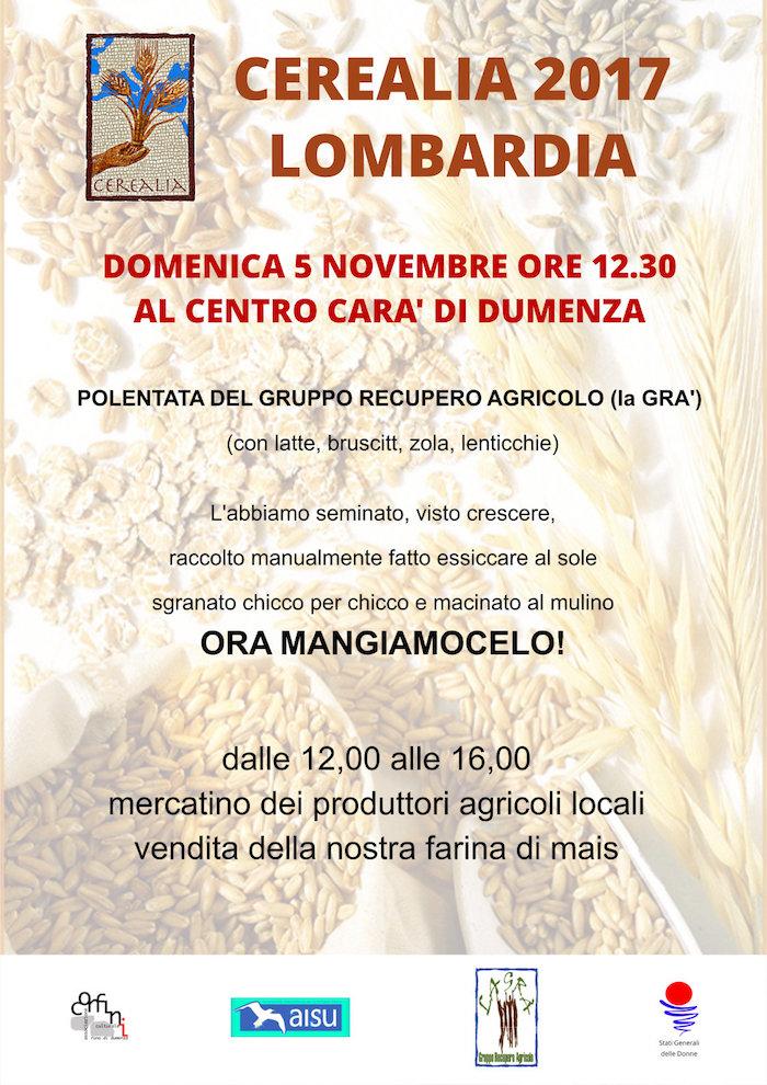 Ceralia, oggi a Dumenza la polentata del Gruppo Agricolo