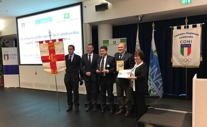 Coni, Regione Lombardia e Unasci premiano l'ultracentenaria Canottieri Luino