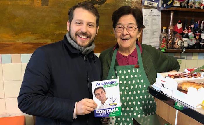 Regionali, Monti (Lega) in visita a Luino: