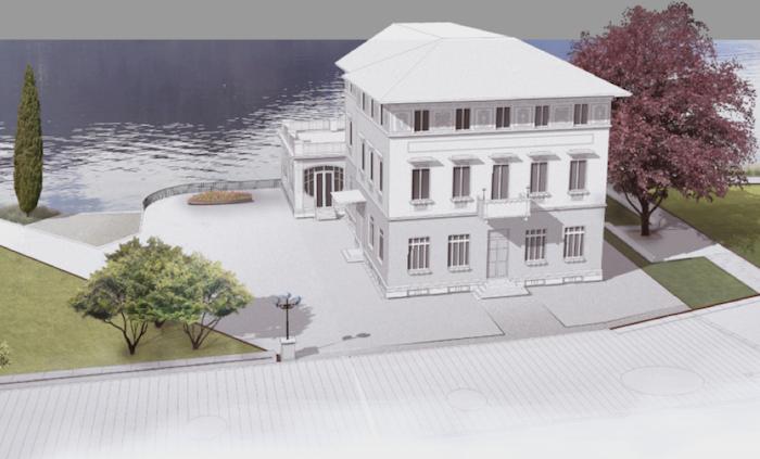 A Luino una scalinata a lago, al via il progetto per le aree esterne del Palazzo Verbania