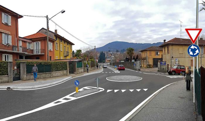 Luino, tante le ipotesi al vaglio per rivoluzionare la viabilità e ridurre la velocità in via Asmara
