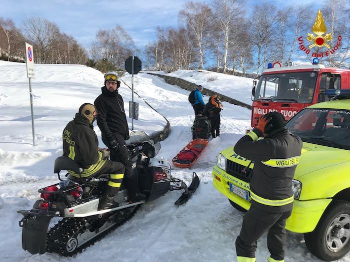 Veddasca: donna cade sulla neve sul Covreto, interviene l'elisoccorso