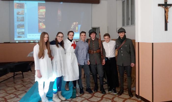 La Grande Guerra in scena all'Educandato di Roggiano