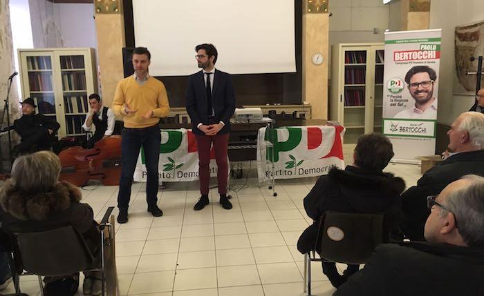 Elezioni, sala gremita per l'inizio della campagna elettorale di Bertocchi