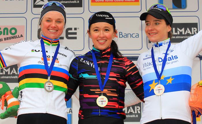 """Cittiglio, Katarzyna Niewiadoma ha vinto il 20° Trofeo Binda. """"Mi sono ispirata a Nibali"""""""
