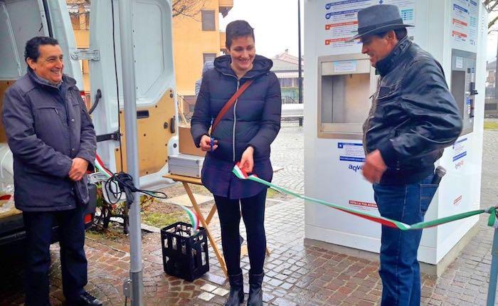 Inaugurata la casetta dell'acqua a Grantola, il sindaco Boscardin: