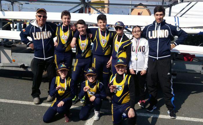 Undici medaglie per la Canottieri Luino al Meeting Nazionale di Genova