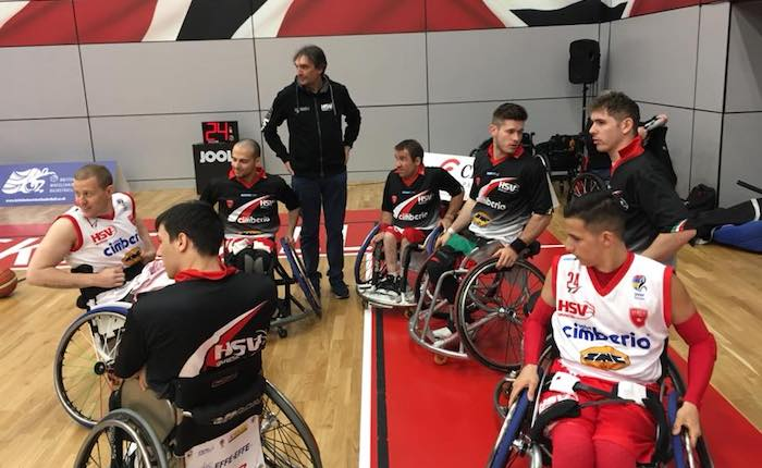 Basket in carrozzina, la Cimberio Handicap Sport settima alla Final Eight di Eurolega 2 a Sheffield