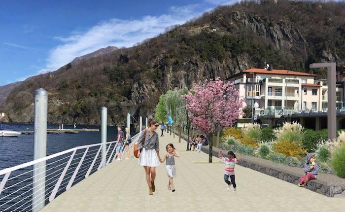 Il nuovo lungolago Girardi farà brillare Maccagno, ecco le foto del progetto