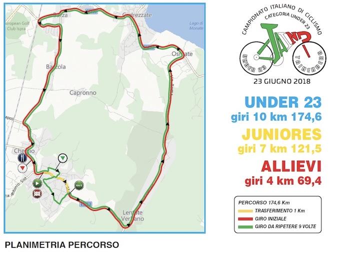 Taino, Campionato Italiano Under 23: