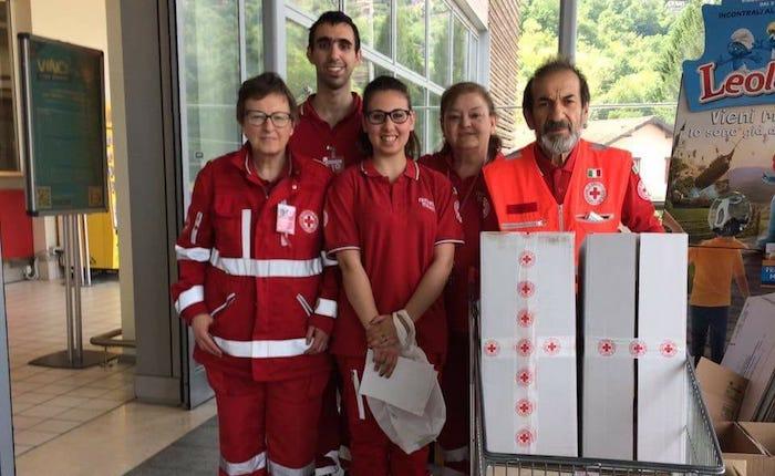 La Croce Rossa di Luino sempre al fianco delle famiglie bisognose e degli indigenti
