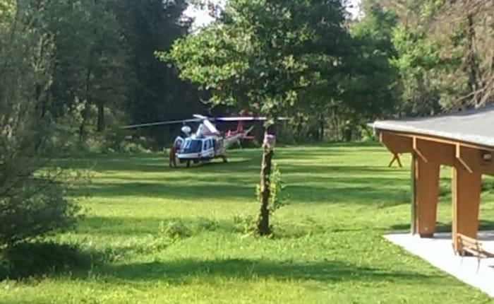 Cade in bici nei boschi di Montegrino, 41enne in Ospedale. Interviene l'elisoccorso
