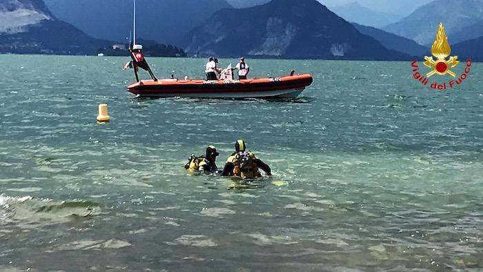 65enne scomparso da ieri a Laveno, continuano senza sosta le ricerche nelle acque del lago