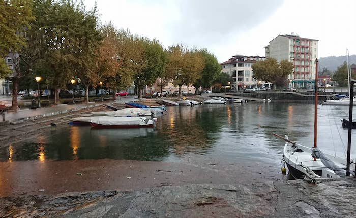 Laveno Mombello, preoccupa l'innalzamento del livello del lago