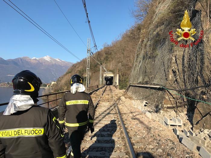 Frana Luino-Maccagno, torna alla normalità la circolazione sulla statale e ferrovia