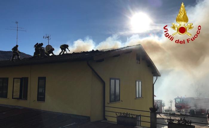 Il vento forte si abbatte sull'Alto Varesotto, danni e incendi