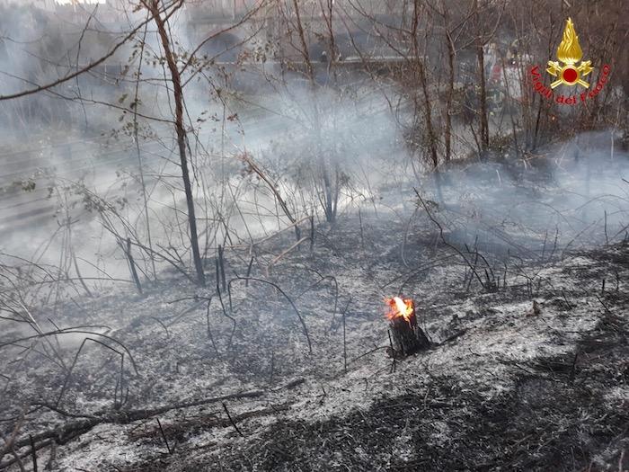 Oltre 60 interventi dei vigili del fuoco per il vento forte, incendio a Laveno
