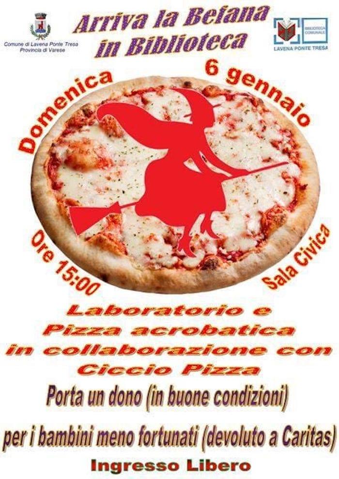 A Lavena Ponte Tresa arriva la Befana con un laboratorio di pizza e spettacolo acrobatico