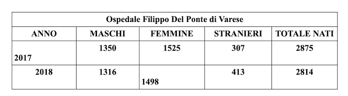 Crescono le nascite nel 2018 a Cittiglio, ecco gli ultimi nati dello scorso anno e del 2019