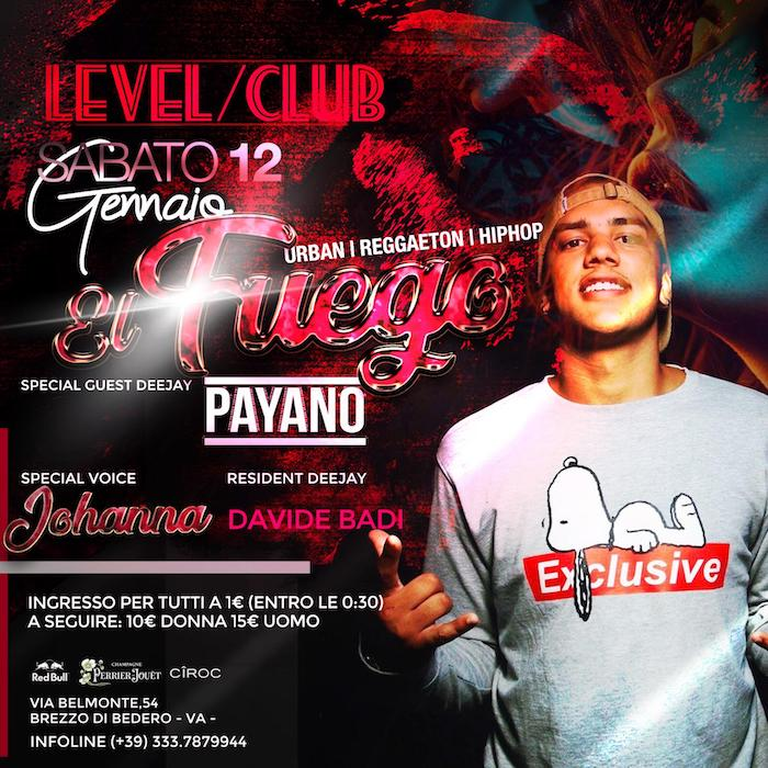 Domani una serata caliente al Level Club